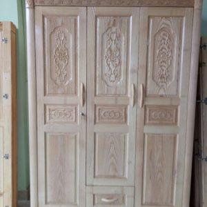 Tủ áo gỗ sồi 3 cánh TAGS001
