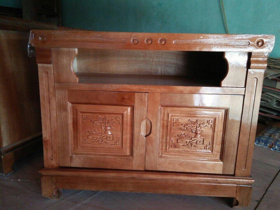 Kệ tivi gỗ xoan đào 80cm KGXĐ007
