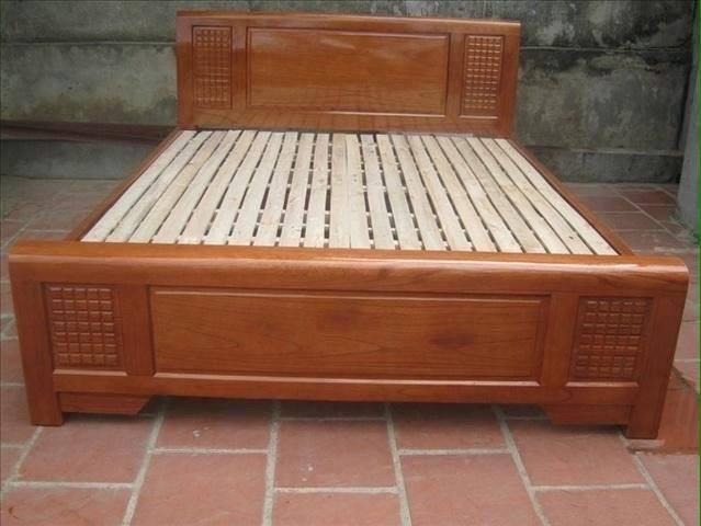 Giường gỗ xoan GXT002