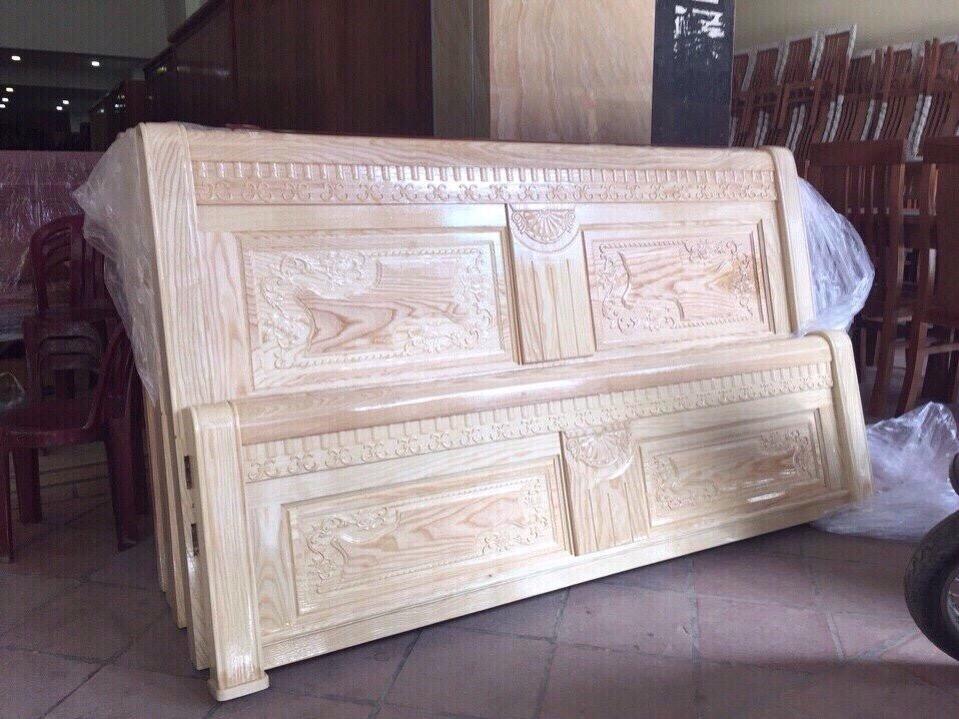 Giường gỗ sồi nga GSN006